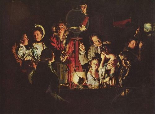 <i>An Experiment on a Bird in the Air Pump </i> by Joseph Wright