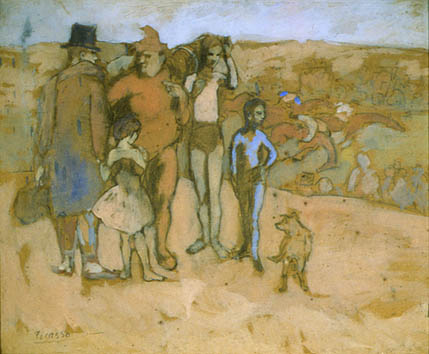Les Saltimbanques at the Races - Picasso