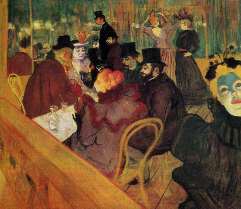 <i> At The Moulin Rouge </i> by Toulouse Lautrec