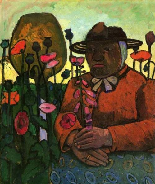 Old Poorhouse Woman with a Glass Bottle - Paula Modersohn-Becker