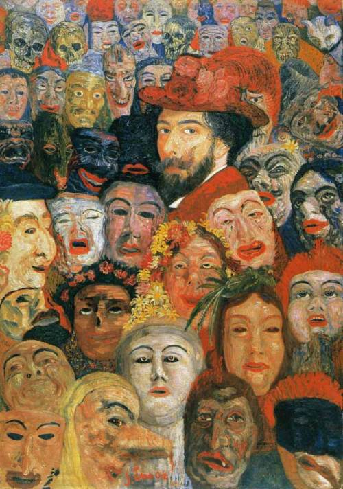 Self Portrait with Masks - James Ensor